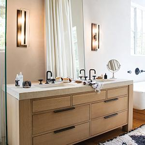 Bathrooms should include lighting from multiple sources to keep it both beautiful and functional. Hinkley offers a full range of decorative vanity lighting ... & Hinkley 5654BN Contemporary Modern Four Light Bath from Latitude ... azcodes.com