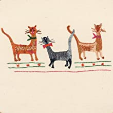cats, embroidery, transfer, sampler, bows