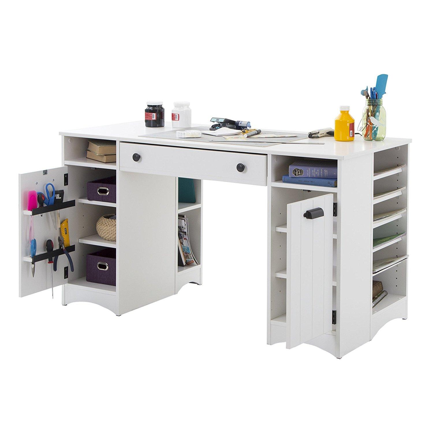 Amazon.com: South Shore Artwork Craft Table with Storage ...