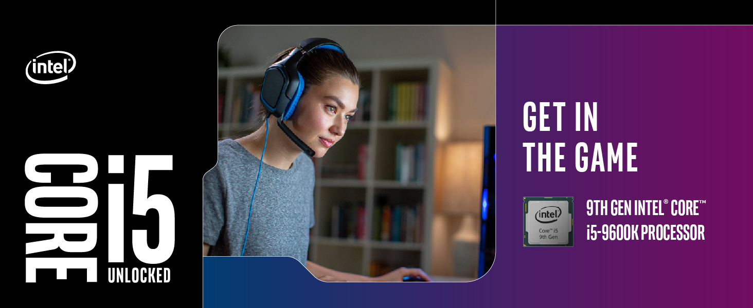 Intel Core i5-9600K Desktop Processor 6 Cores up to 4 6 GHz Turbo Unlocked  LGA1151 300 Series 95W