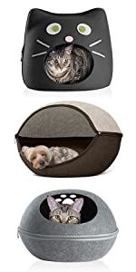 felt; cubby; pet; house; dog; cat; bed