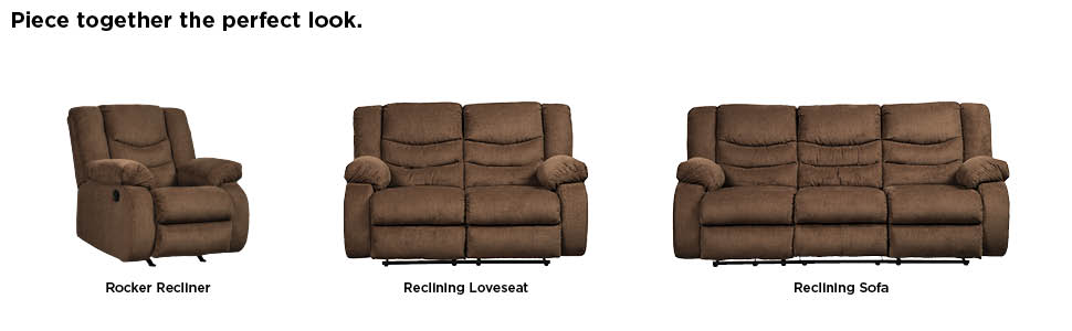 Signature Design by Ashley 9860588 The Tulen Reclining Sofa, Chocolate
