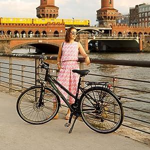 Damen Fahrrad,damenfahrrad, hawkbikes, trekking bike