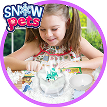 KIDS COLLECTIBLE SNOW PET FIGURINES TOYS