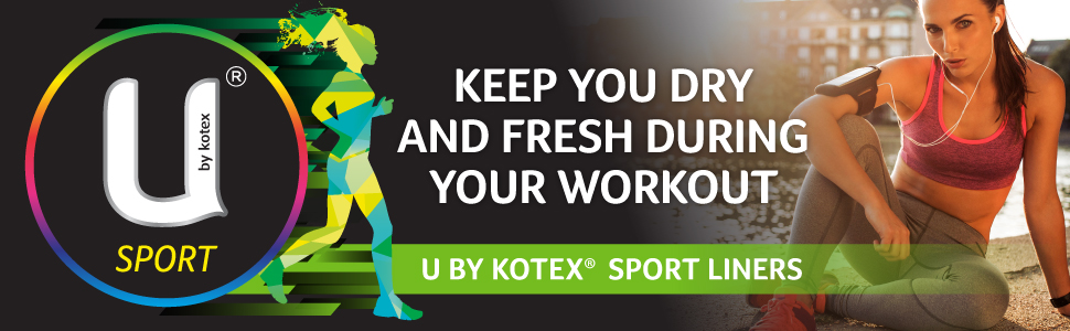 u by kotex, ubk liners, liners, liner, sports liners, sport liner, thin liners, fitness, sports