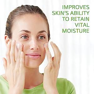 Improves skin's ability to retain vital moisture.