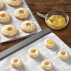 Cookie Decorating with Reynolds Kitchens Parchment Paper with Smart Grid