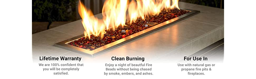 American Fire Glass Fire Beads Fireplace Glass and Fire Pit Glass
