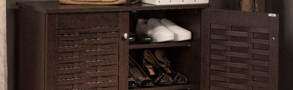 dark brown, brown, dark brown cabinet, brown cabinet, shoe storage, shoe storage cabinet