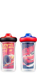 Disney/Pixar Cars Insulated Hard Spout Sippy Cups 9 Oz, 2pk