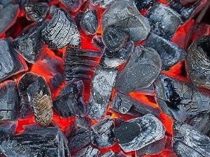 lump, charcoal, grilling, summer