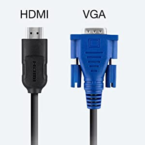 HDMI and VGA Inputs for Flexible Connectivity