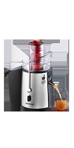 Concept Electrodomésticos CE 3520 Exprimidor de cítricos con palanca de lujo, de 750ml, acero inoxidable 150 W, 0.75 litros, Gris y negro: Amazon.es: Hogar