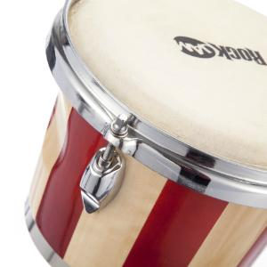 Red Stripe Bongo Drum Skin Head