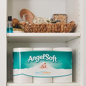 angel soft, toilet paper, bath tissue, facial tissue, restroom, bathroom, paper, soft, strong