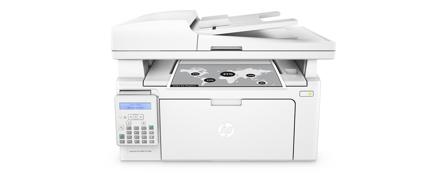 Amazon.com: Impresora láser todo en uno HP Laserjet Pro M130fn