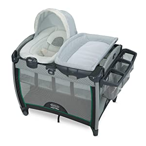 Graco Pack 'n Play Quick Connect Portable Bouncer Playard with Bassinet