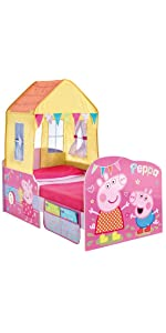 Peppa Pig Toddler Bed And Canopy By Hellohome Amazon Co