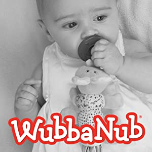 Mary Meyer WubbaNub Soft Toy and Infant Pacifier, Afrique Elephant