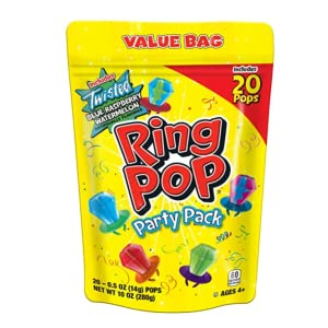 pinks ring pop candy packs party favors