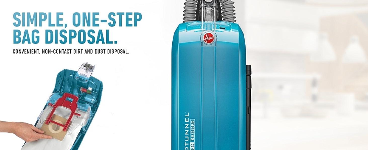 vacuum cleaner hoover upright bagged HEPA filtration media