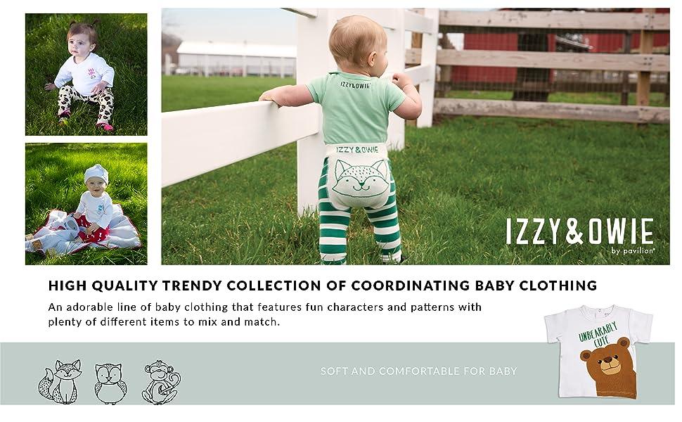 Izzy and Owie; Izzy amp; Owie; baby; apparel; kids; toddler; hat; shirt; onesie; socks; leggings; fun