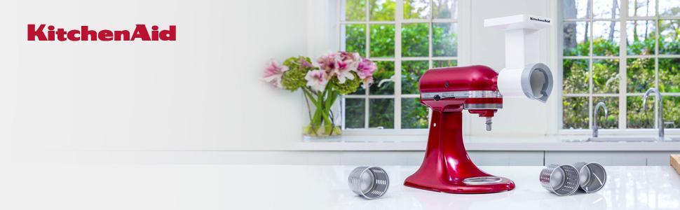 KitchenAid MVSA Fresh Prep Slicer//Shredder Optional Accessory for KitchenAid Stand Mixers
