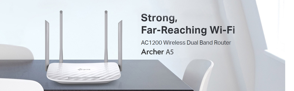 Archer A5 Router Wi-Fi Wifi wireless network 1200 Mbps speed coverage Range hotspot AC1200 Reach