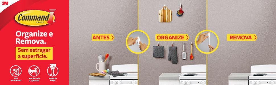 3M, command, organize, remova, sem estragar, superficie, sem ferramentas, remoção limpa