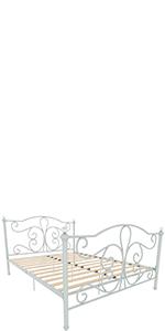 Vida Designs Chicago Lit en métal Blanc King size