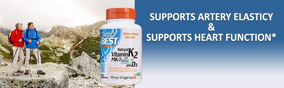 Natural K2 supports artery elasticy and heart funtion