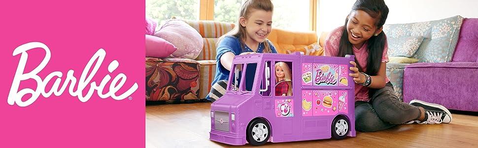 Il Furgoncino Street Food di Barbie si trasforma con oltre 30 pezzi per giocare in modo realistico