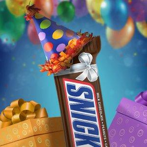 The SNICKERS Slice 'N Share is a delicious party favor for birthday and holiday events.