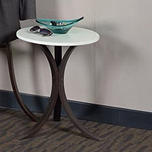 niche, mia, regency, end table, side table, small table, bentwood, three legged, entryway, two tone,