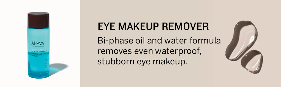 AHAVA, eye, make up remover, Dead Sea,