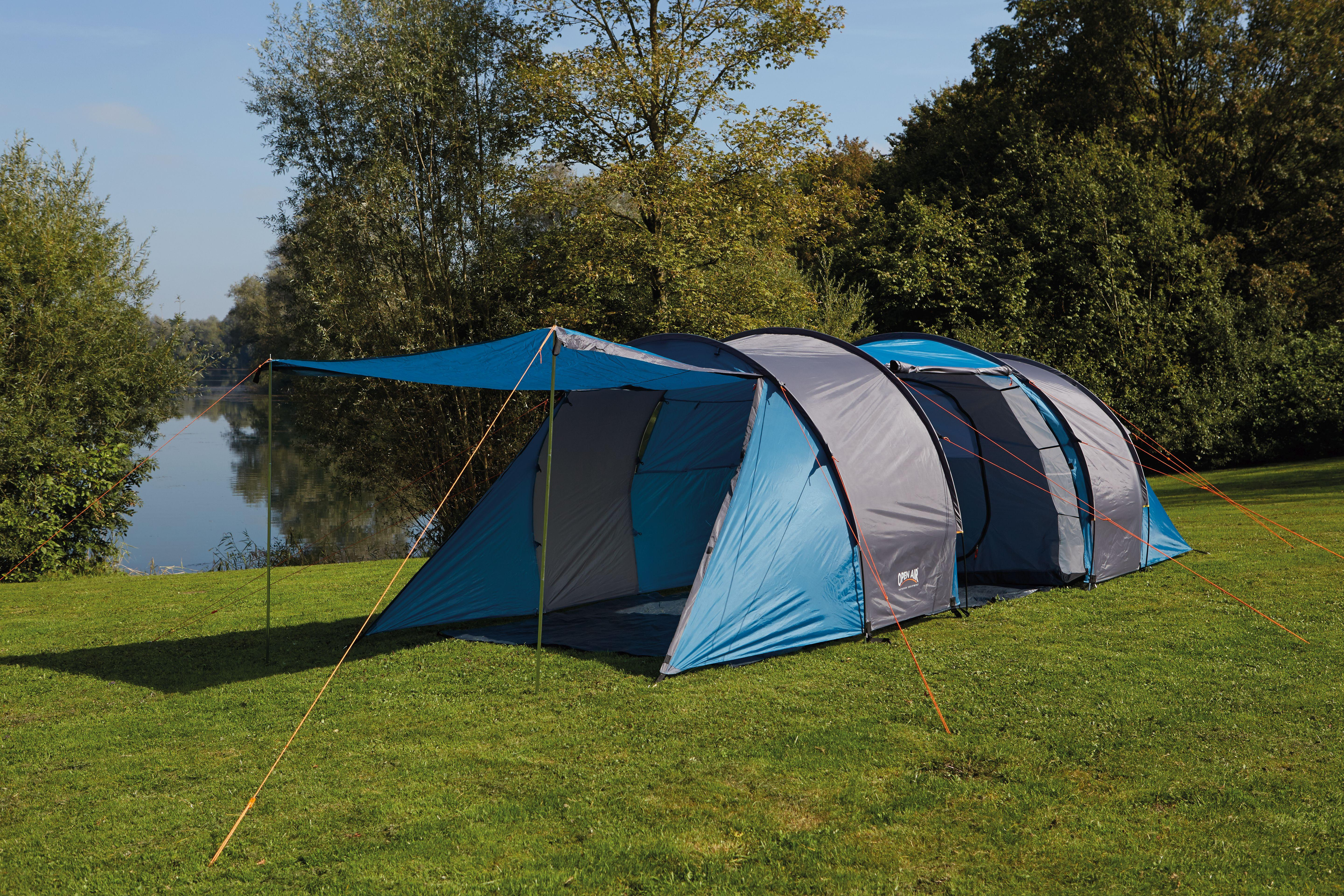 View larger & Open Air Unisex Himalaya Tunnel Tents Blue/Grey Large: Amazon.co ...
