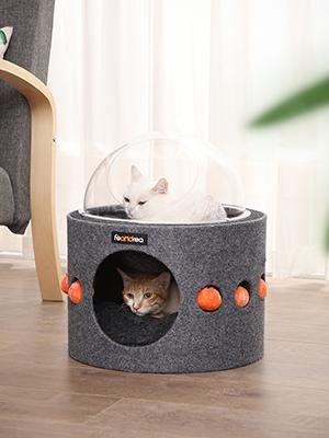 FEANDREA Caseta para Gatos, Casa para Mascotas, Cueva de ...