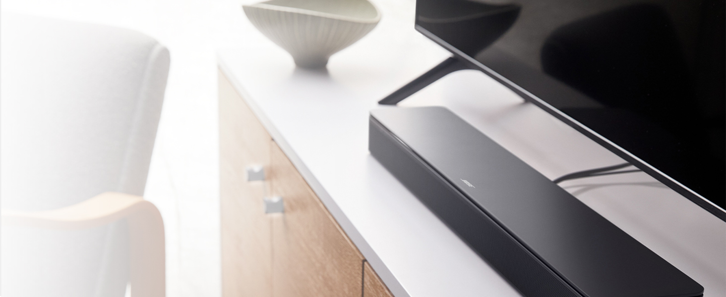 Bose Smart Soundbar 300 Bluetooth and Wi-Fi connectivity with Alexa voice control built in, Black