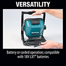 versatility battery or corded operation compatiable with 18v LXT batteries charger cordless electic