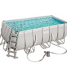 Bestway Power Steel Rectangular Pool Set 412 x 201 x 122 cm Marco ...