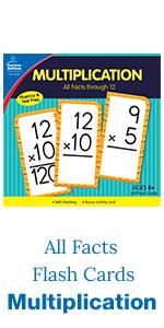 Multiplication flash cards, all factors