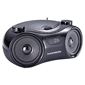 Radio CD portátil Thomson RCD210U color negro, USB, AUX IN