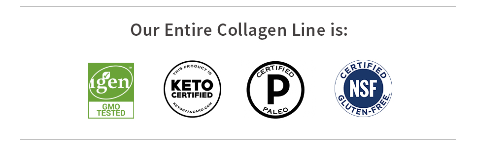 10g collagen energy beauty and joints probiotics coconut MCTs hydrolized non-gmo keto paleo nsf