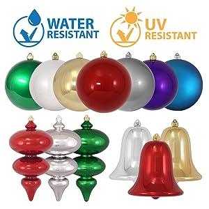 uv water moisture resistant plastic indoor outdoor shatterproof plastic ornaments commercial grade