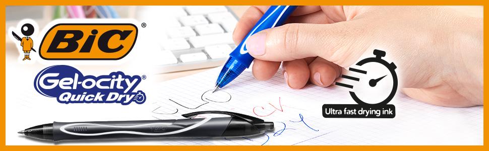 Gelocity Quick Dry Gel Pen BIC Notebook Set