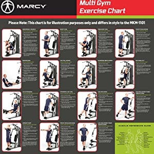 Marcy Club Mkm 1101 Home Multi Gym 54 Kg Stack Black