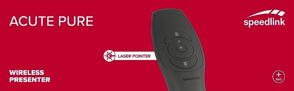 SPEEDLINK ACUTE Presenter Präsenter Laserpointer Zeiger Wireless PowerPoint
