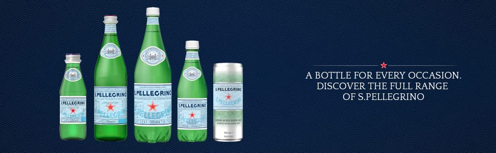 S>pellegrino Sparkling Natural Mineral Water Full Range for Every Occasion