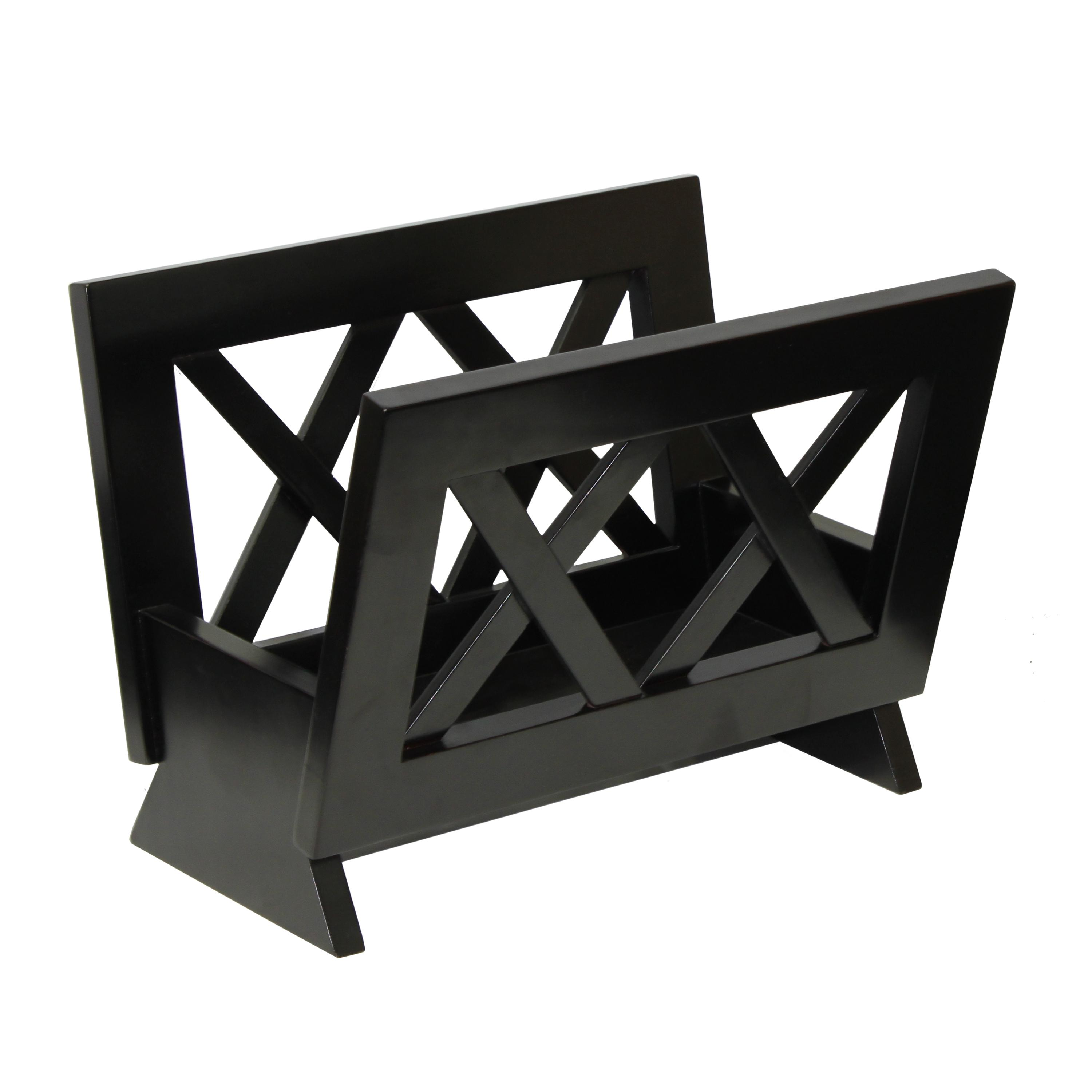 Wood Magazine Rack ~ Amazon oceanstar m contemporary solid wood