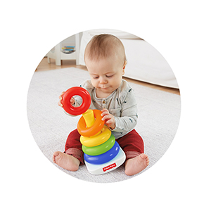 FISHER PRICE, NEWBORN, TODDLER, ROCK A STACK, GIFTING, EDUCATIONAL, LEARNING, BABY, TOYS, RUBBER,